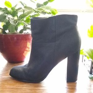 Aldo 4 inch stacked heel ankle boots